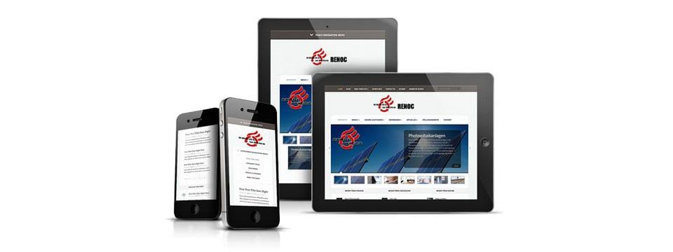 mobile webSite erstellen im Responsive Design für alle Bildschirme