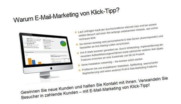 eMail-Marketing – mein Klick-Tipp