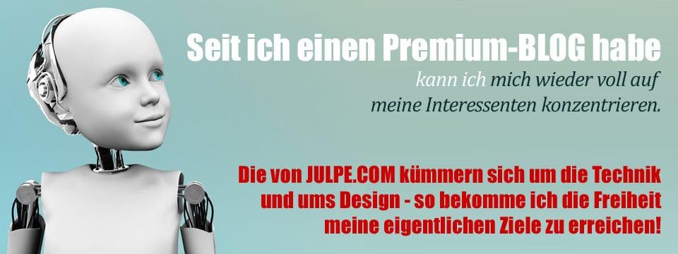 Blog erstellen oder webSite erstellen mit JULPE .COM