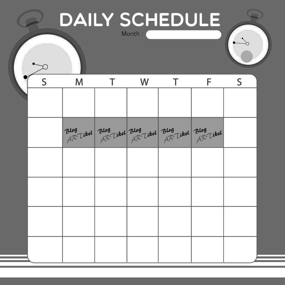 Terminplan Blogartikel schreiben
